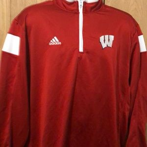 Adidas  Wisconsin badger pullover 1/2 zip XL used